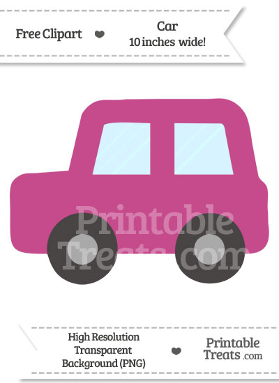 Mulberry Purple Car Clipart from PrintableTreats.com