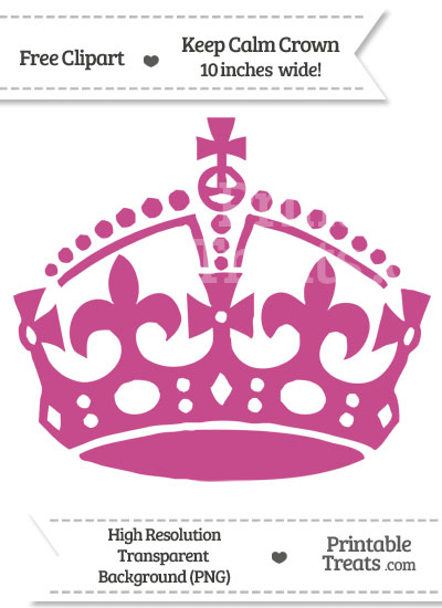 Mulberry Purple Keep Calm Crown Clipart from PrintableTreats.com