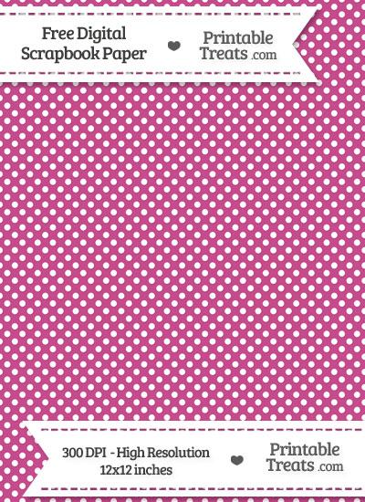 Mulberry Purple Raised Mini Polka Dots Digital Paper from PrintableTreats.com