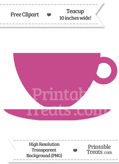 Mulberry Purple Teacup Clipart from PrintableTreats.com