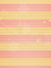 orange red musical stationery
