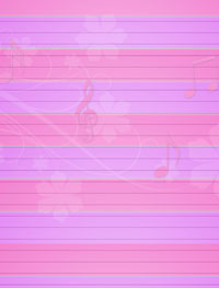 pink musical stationery