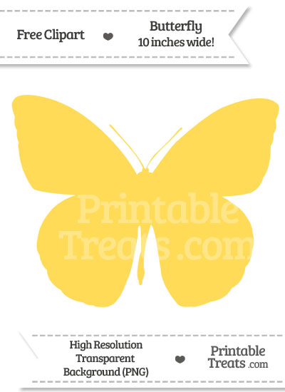 Mustard Yellow Butterfly Clipart from PrintableTreats.com
