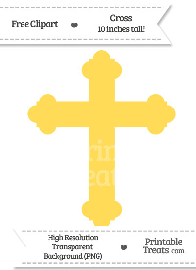 Mustard Yellow Cross Clipart from PrintableTreats.com