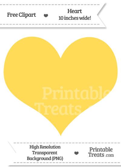 Mustard Yellow Heart Clipart from PrintableTreats.com