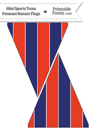 Nationals Colors Mini Pennant Banner Flags from PrintableTreats.com