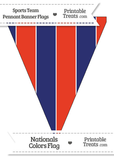 Nationals Colors Pennant Banner Flag from PrintableTreats.com