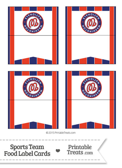 Nationals Food Label Buffet Cards from PrintableTreats.com