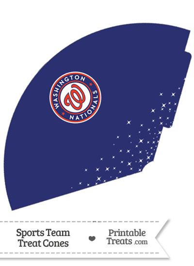 Nationals Treat Cone Printable from PrintableTreats.com