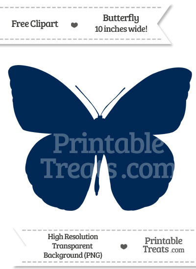 Navy Blue Butterfly Clipart from PrintableTreats.com