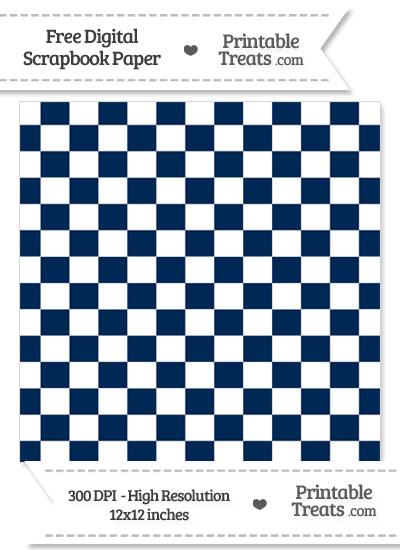 Navy Blue Checkered Pattern Digital Paper from PrintableTreats.com