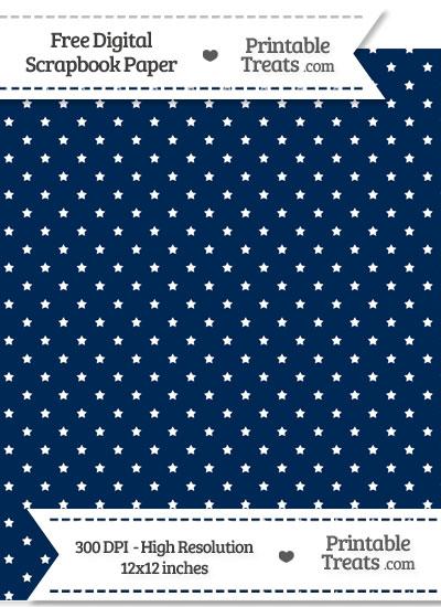 Navy Blue Mini Stars Digital Paper from PrintableTreats.com