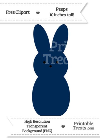 Navy Blue Peeps Clipart from PrintableTreats.com
