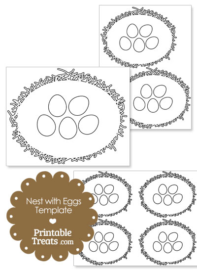 Nest with Eggs Template from PrintableTreats.com