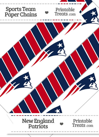 New England Patriots Paper Chains from PrintableTreats.com