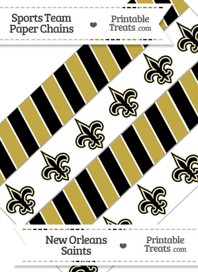 New Orleans Saints Paper Chains from PrintableTreats.com