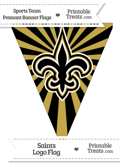 New Orleans Saints Pennant Banner Flag from PrintableTreats.com