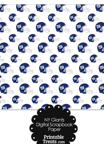 New York Giants Football Helmet Digital Paper from PrintableTreats.com