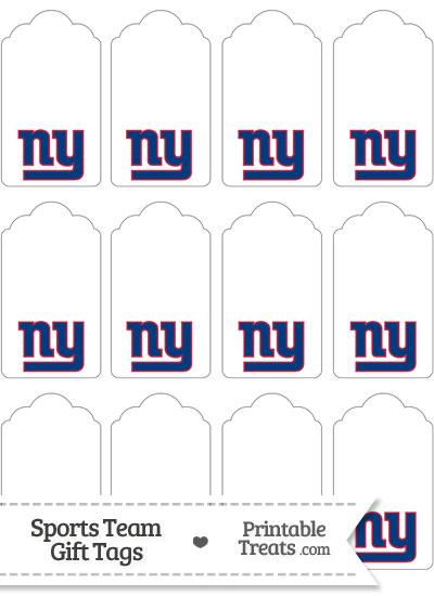 New York Giants Gift Tags from PrintableTreats.com