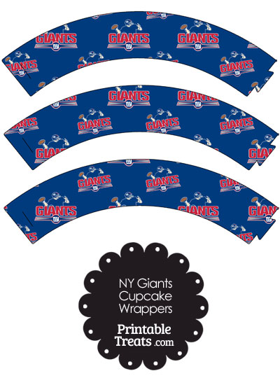 New York Giants Logo Cupcake Wrappers from PrintableTreats.com