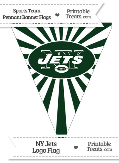 New York Jets Pennant Banner Flag from PrintableTreats.com