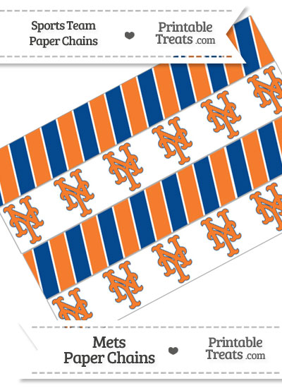 New York Mets Paper Chains from PrintableTreats.com