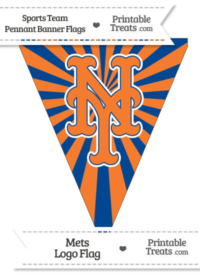 New York Mets Pennant Banner Flag from PrintableTreats.com
