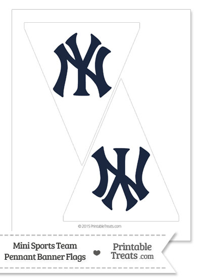 New York Yankees Mini Pennant Banner Flags from PrintableTreats.com