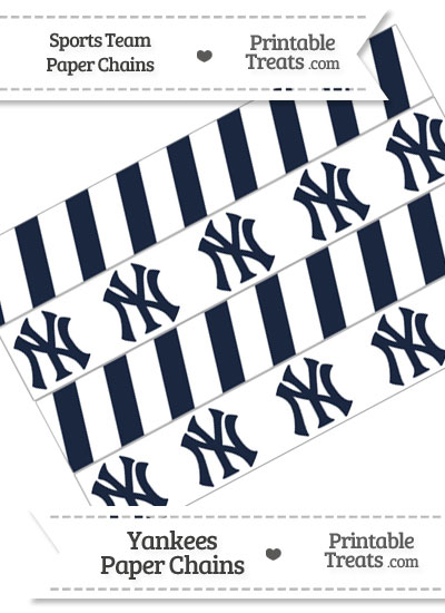 New York Yankees Paper Chains from PrintableTreats.com