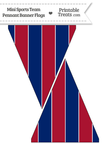 NY Giants Colors Mini Pennant Banner Flags from PrintableTreats.com
