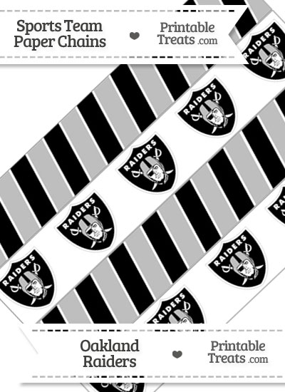 Oakland Raiders Paper Chains from PrintableTreats.com