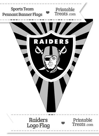 Oakland Raiders Pennant Banner Flag from PrintableTreats.com