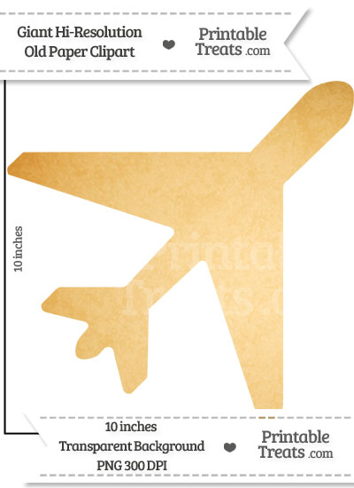 Old Paper Giant Airplane Clipart from PrintableTreats.com