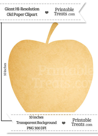 Old Paper Giant Apple Clipart from PrintableTreats.com