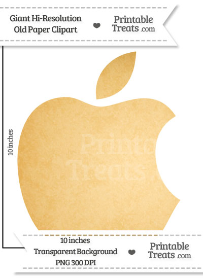 Old Paper Giant Apple Logo Clipart from PrintableTreats.com