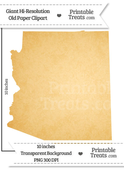 Old Paper Giant Arizona State Clipart from PrintableTreats.com