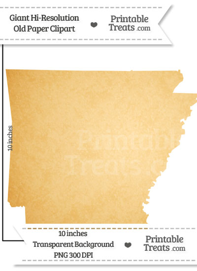 Old Paper Giant Arkansas State Clipart from PrintableTreats.com