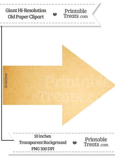 Old Paper Giant Arrow Clipart from PrintableTreats.com