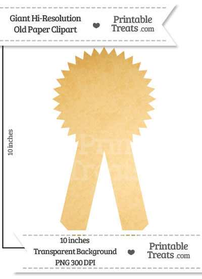 Old Paper Giant Award Ribbon Clipart from PrintableTreats.com