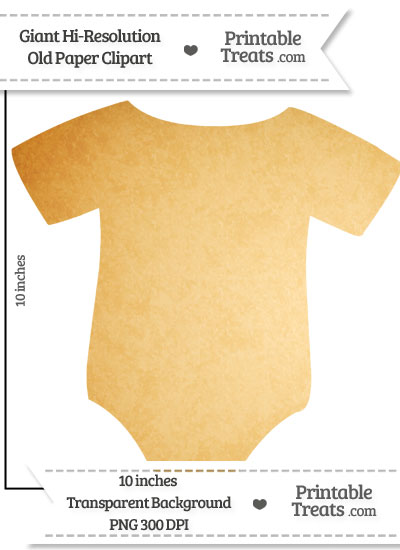 Old Paper Giant Baby Onesie Clipart from PrintableTreats.com