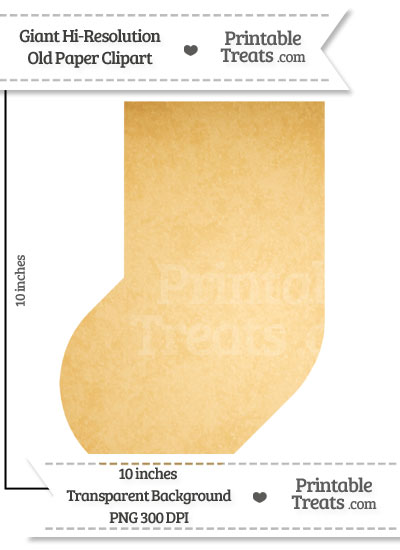 Old Paper Giant Baby Sock Clipart from PrintableTreats.com