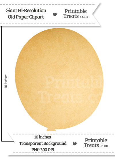 Old Paper Giant Balloon Clipart from PrintableTreats.com