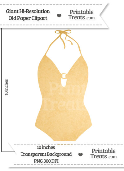Old Paper Giant Bathing Suit Clipart from PrintableTreats.com