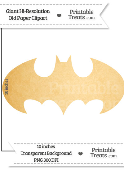 Old Paper Giant Batman Symbol Clipart from PrintableTreats.com
