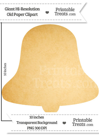 Old Paper Giant Bell Clipart from PrintableTreats.com