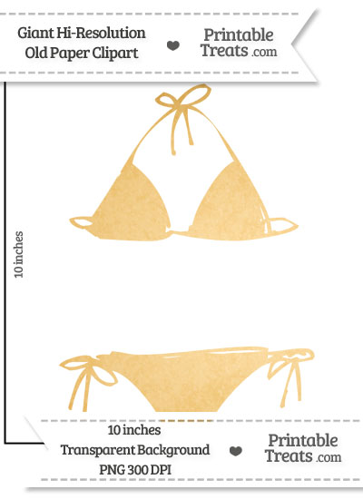 Old Paper Giant Bikini Clipart from PrintableTreats.com