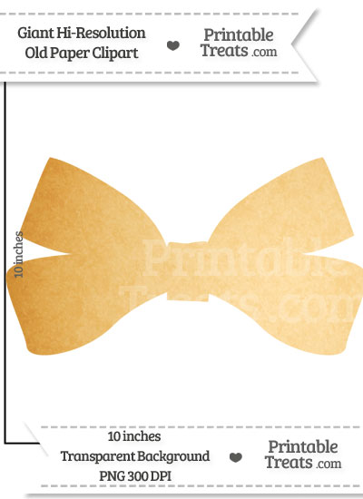 Old Paper Giant Bow Clipart from PrintableTreats.com