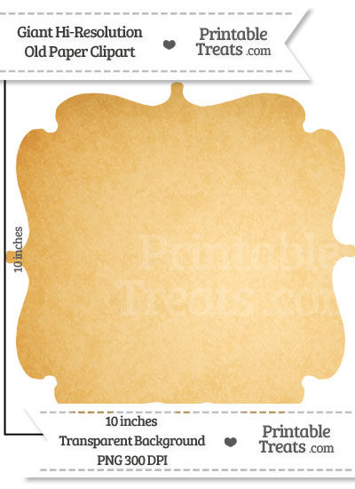 Old Paper Giant Bracket Frame Clipart from PrintableTreats.com