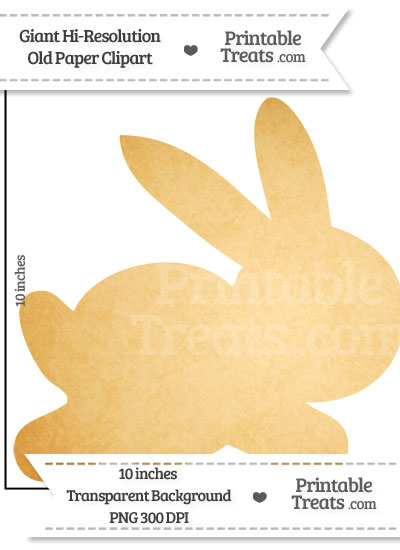Old Paper Giant Bunny Clipart from PrintableTreats.com