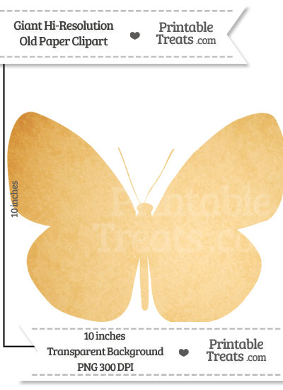 Old Paper Giant Butterfly Clipart from PrintableTreats.com